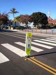 Yield To Pedestrians Within Crosswalk (Fixed base installed on road)