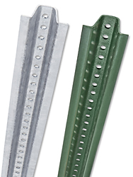 Galvanized & Green U-channels