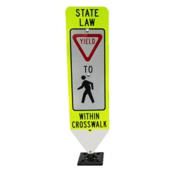 Yield To Pedestrians Within Crosswalk (Surface mount: fixed base)