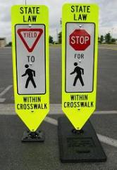 Yield To Pedestrians/Stop For Pedestrians Within Crossswalk